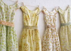 Sweet, pretty summer dresses ♥