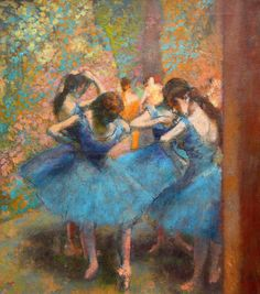 I never did ballet, but I loved Degas' ballerinas since, as a child, my parents had a deck of cards with impressionist painters on the backs, of which they were on, as well as Monet, Renoir, etc.
