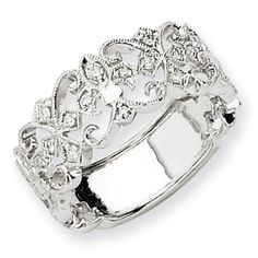 Every day flor de lis ring