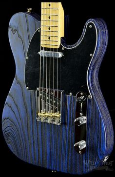 Fender USA Limited Edition Sandblasted Telecaster Sapphire Blue Transparent - Wild West Guitars