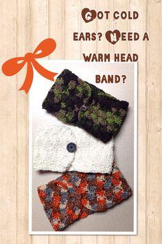 Crocheted ear warmer  on Etsy, $12.00