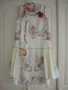 Amazing 1920's Vintage Cotton Hand Embroidered by PrettyUnusuall
