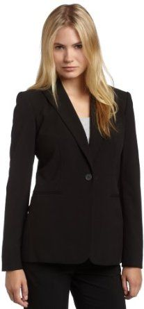 Calvin Klein Women's Single Button Suit Jacket #calvinklein #women #suitjacket  #fashion #jacket