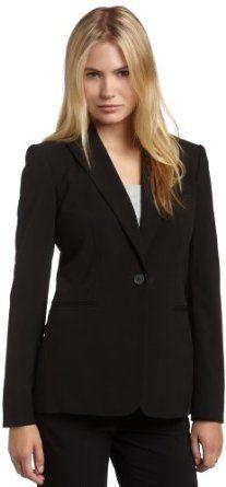 Calvin Klein Women's Single Button Suit Jacket #calvinklein #women #suitjacket  #fashion #jacket