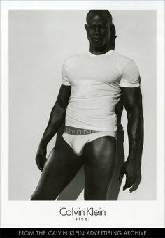 Djimon Hounsou (2007) Pretty Men, Gorgeous Men, Calvin Klein Men Underwear, Underwear Men, Chocolate Men, Chocolate Thunder, Calvin Klein Ads, Djimon Hounsou, Men's Briefs
