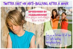 Join our Twitter chat on October 22 at 7pm EST to discuss anti-bullying after a move sponsored by @cablemover #stopthebullying