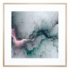 Vivid and regal, this compelling contemporary print conjures imagery of canyons and rivers in your space, bringing a serene mood along with it.