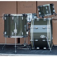C&C Drums (High Gloss Green)