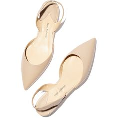 Paul Andrew x goop Rhea Slingback in Nappa Leather Goop ❤ liked on Polyvore featuring shoes, flats, heels, zapatos, обувь, dressy shoes, dressy flat shoes, nude slingback shoes, fancy shoes and dressy flats