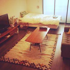maruさんの、部屋全体,観葉植物,無印良品,雑貨,一人暮らし,セリア,salut!,3Coins,賃貸,SINGLE HACK,のお部屋写真