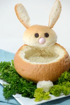 Easter Bowl Bunny Bread