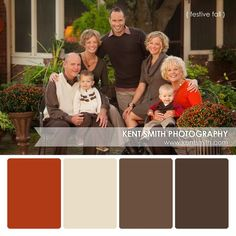 Fall theme colors for a Thanksgiving photo session