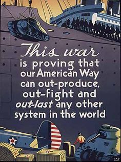 The American Way ~ Merchant Marine WWII Poster ( most people are unaware that every merchant ship had a small crew of us navy signalmen, radiomen and gunnersmates - my dad was one of them)