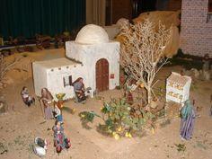 Dollhouse Miniature Tutorials, Dollhouse Miniatures, Modelos 3d, Nativity, Christmas Crafts, Bethlehem, Crib, Portal, Models