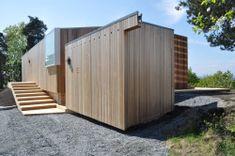 Retreat Fuglvik is a minimal home designed by Reiulf Ramstad Architects.
