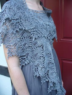 Sweet Dreams pattern by Boo Knits  (I knit this beaded with a beaded picot bind-off.)