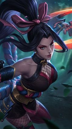 Hanabi Mobile Legends Free Ultra HD Mobile Wallpaper - My Manga Akali League Of Legends, League Of Legends Characters, Lol League Of Legends, Fantasy Girl, Fantasy Women, Mobile Legend Wallpaper, Hero Wallpaper, Wallpaper Quotes, Fantasy Characters