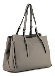 zweigeteilte Ledertasche Gianni Chiarini Twin Tortora grau Taupe - Bags & more Taupe, Twins, Bags, Fashion, Leather Bag, Pouch, Hand Bags, Beige, Handbags