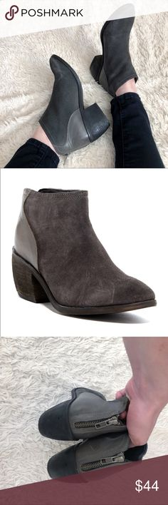 CHARLES BY CHARLES DAVID ✨NWOT✨ Grey Suede Booties Charcoal gray micro-suede & leather booties. These are NWOT; but they were out on the floor at the store, so there are a few minor scratches (as shown). ✨OFFERS WELCOME✨ Charles David Shoes Ankle Boots & Booties