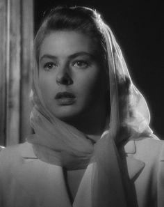 """Ingrid Bergman in Casablanca (1943), Best Actress 1944 """"Gaslight"""" & 1956 """"Anastasia"""" Best Supporting Actress 1974 """"Murder On the Orient Express"""""""
