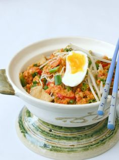 ~Elra's Cooking~: Mee Siam. Singaporean Vermicelli Noodle With Tofu, Bean Sprouts, and Peanut Sauce