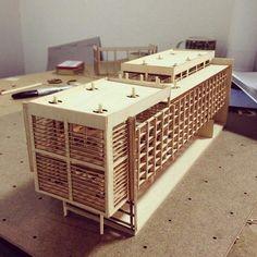 Fleksibilitet i fasade. Concept Models Architecture, Architecture Model Making, Modern Architecture Design, Hotel Architecture, Architecture Student, Modern Buildings, Amazing Architecture, Architect Jobs, 3d Modelle