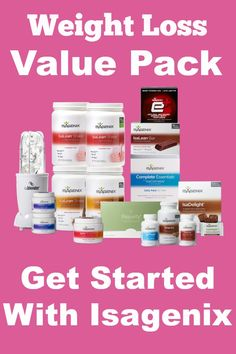Get started on your optimal health journey today with the Isagenix weight loss value pack!