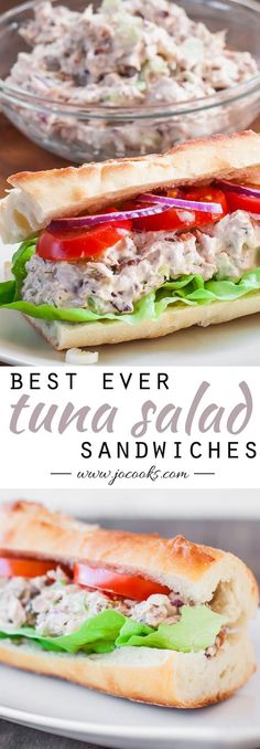 The Best Tuna Salad Recipe is right here with Pecans and Raisins. It makes for such a delicious lunch or dinner! Serve it as sandwiches or salad wraps! Healthy Food List, Healthy Diet Recipes, Healthy Food Choices, Healthy Foods To Eat, Healthy Eating, Cooking Recipes, Meal Recipes, Healthy Salads, Healthy Weight