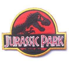 3D Embroiedered Jurassic Park Patch Tactical Military jurassk Park Badges Appliques for Clothing with Hook&Loop 10*8CM