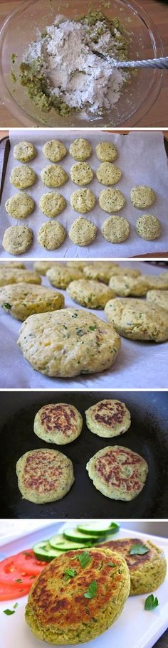 Falafel Recipe, yet another, I know... (could be GF if substituted another flour for the 1/2 cup called for)
