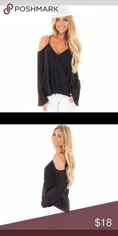 Black off shoulder blouse Cute black blouse Tops Blouses