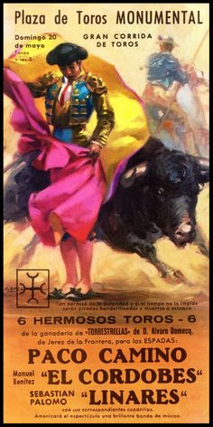 "Plaza De Toros De Ciudad Juarez #5 Canvas Art Poster 12/""x 24/"" Bullfighting"