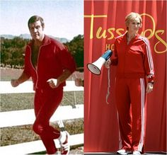 Track suits - from Six Million Dollar Man to Glee    Inside Pulse | Vanity Fair: Glee's Jane Lynch inspired by Six Million Dollar Man's Lee Majors?