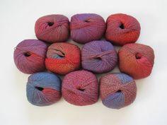 Jojoland Melody Superwash 43  50g, 220 yards per ball.  Fingering weight, superwash sock yarn. For lace knitting also.   $6.75  www.customyarns.com
