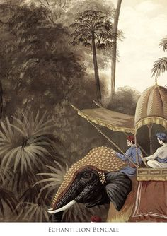 Echantillon paysage sepia - Echantillon Bengale sepia 60x80cm - ultra mat