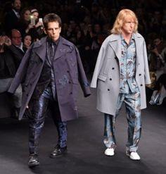 Ben Stiller and Owen Wilson on the catwalk of the Valentino show.