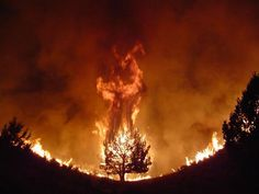Aparicion del Diablo en un incendio forestal