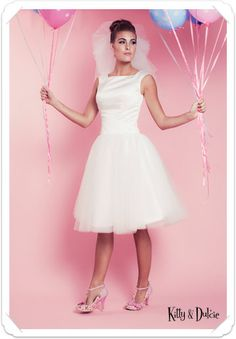 I Got You Babe Bridal Gown £325 at www.kittyanddulcie.com