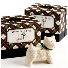 Westie Dog-Shaped Soap - have to get these for my sister - these are her dogs