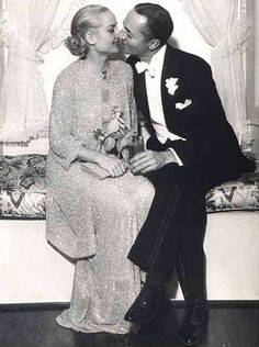Carole Lombard and William Powell on their wedding day in June, 1931