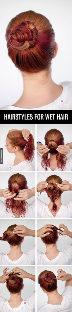 Hairstyle For Wet Hair <3