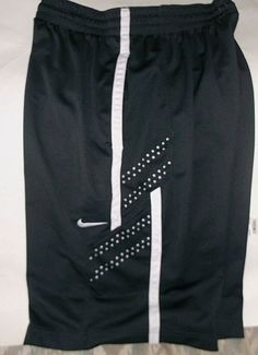 NIKE Elite Basketball Shorts Men Dri-Fit Size L 2 Pocket Draw String Dark Gray #Nike #Shorts