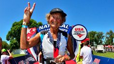 Sister Madonna Buder was the only person to get a standing ovation at the awards ceremony for the USA Triathlon Age Group National Championships on Aug. 13 in Omaha, Nebraska. It wasn't because she had the best time or broke any records, but rather that she was the only person to compete in the 85-plus age category.
