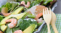 Salade de crevettes, avocat et pamplemousseVoir la recette de la salade de crevettes et avocat >>