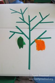 Tapping our own magic table top tree by Teach Preschool