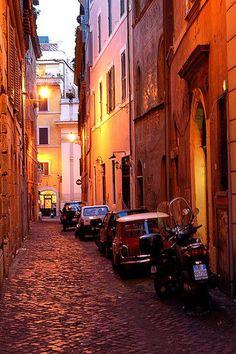 Roman Street at Night