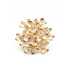 Golden Bouquet Ring ❤ liked on Polyvore