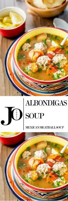 An incredible Albondigas soup which is a traditional Mexican meatball soup loaded with vegetables and full of flavor. I figure I could omit the potatoes and rice (get creatively keto) Mexican Meatball Soup, Mexican Meatballs, Mexican Chicken, Albondigas Soup Recipe Mexican, Meatball Recipes, Mexican Cooking, Mexican Food Recipes, Dinner Recipes, Ethnic Recipes