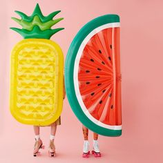 Pineapple and Watermelon Pool Floats