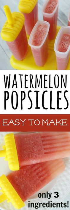 This is The BEST Homemade Watermelon Popsicles recipe. It is oh so easy to make and the kids just had a BLAST making it.